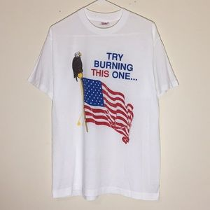 Vintage 1980s Patriotic Try Burning This One